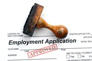 Stock Photo of employment application - approved