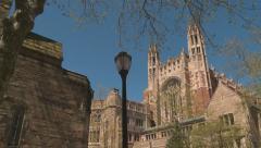 college campus building - stock footage