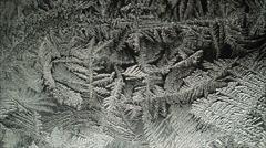 Frozen pattern appear Raw quality Stock Footage