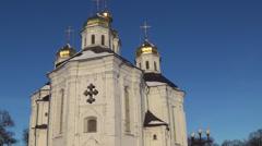Ukraine, the ancient city of Chernigov Stock Footage