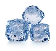 Three pieces of ice - stock photo