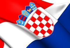 Flag of croatia Stock Illustration