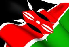 flag of kenya - stock illustration
