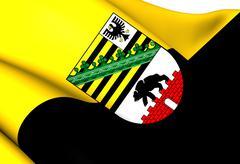 flag of saxony-anhalt - stock illustration
