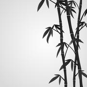 Background with bamboo stems Stock Illustration