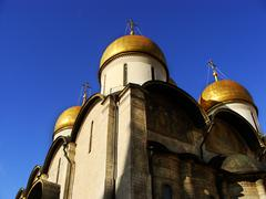 cathedral of the dormition, moscow kremlin, russia - stock photo