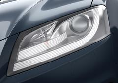 Car light close-up (high-quality clear 3d render) Stock Illustration