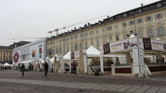 Torino Chocolate show in Italy Stock Footage