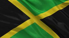 Flag of Jamaica seamless loop Stock Footage