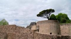 Chateau de Clisson (1)  - Clisson France Stock Footage