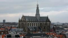 Grote Kerk in Haarlem, Netherlands - stock footage