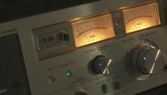 Stock Video Footage of cassette deck pan