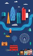 Vector City Illustration of London Stock Illustration