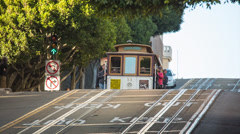 Cable Car in San Francisco Stock Footage