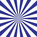 Stock Illustration of Radial Striped Background in Blue and White