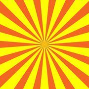 Yellow  Orange Sunburst Background Stock Illustration