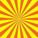 Stock Illustration of Yellow  Orange Sunburst Background
