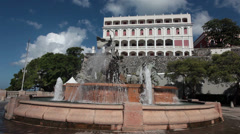Old San Juan Puerto Rico Las Raices Fountain HD 1682 Stock Footage