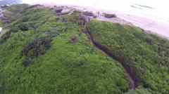 Aerial beach footage. Stock Footage
