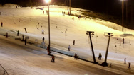 Stock Video Footage of the ski resort at night