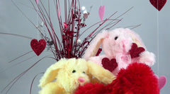 A child's impression of Valentine's Day - stock footage