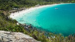 Panoramic view of Praia do Farol Stock Footage