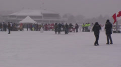 Bed races at Ottawa Winterlude #65 Stock Footage