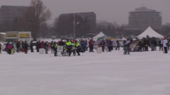 Bed races at Ottawa Winterlude #48 Stock Footage