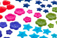 Several colorful buttons Stock Photos