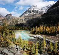 Mount huber and opabin plateau, yoho national park, canada Stock Photos