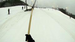 The view of the ski resort from above Stock Footage