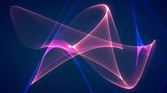 Stock Video Footage of dimension graph mix blue