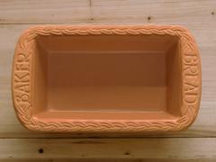 clay bread baking pan - stock photo