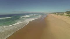 Copter shoreline shot. Stock Footage