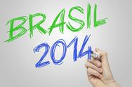 Stock Illustration of brasil 2014 on board world cup