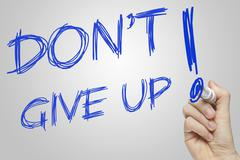 Don't give up Stock Illustration