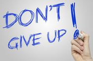 Stock Illustration of don't give up