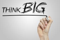 Stock Illustration of think big phrase