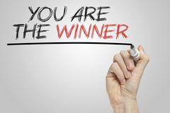 you are the winner - stock illustration