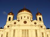 Stock Photo of cathedral of christ the saviour in early morning, moscow, russia