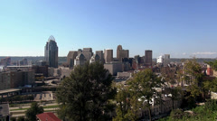 Great view on the skyline of Cincinnati - stock footage