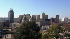 The City of Cincinnati great view on the skyline - stock footage