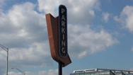 Stock Video Footage of Parking sign in Newport kentucky