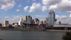 City of Cincinnati and Great American Ballpark Stock Footage