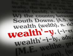 Dictionary wealthy Stock Illustration