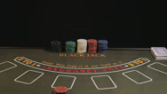 Stock Video Footage of Black Jack Betting, Closeup