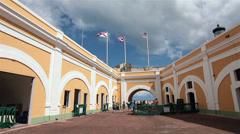 Castillo San Felipe del Morro Fort San Juan courtyard HD 1710 Stock Footage