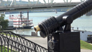 Stock Video Footage of Telescope on Newport Pier Kentucky