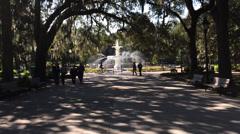 Forsyth Park Savannah GA Stock Footage
