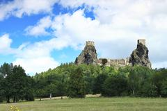 Czech Republic - stronghold Trosky in Cesky raj (Czech paradise) Stock Photos